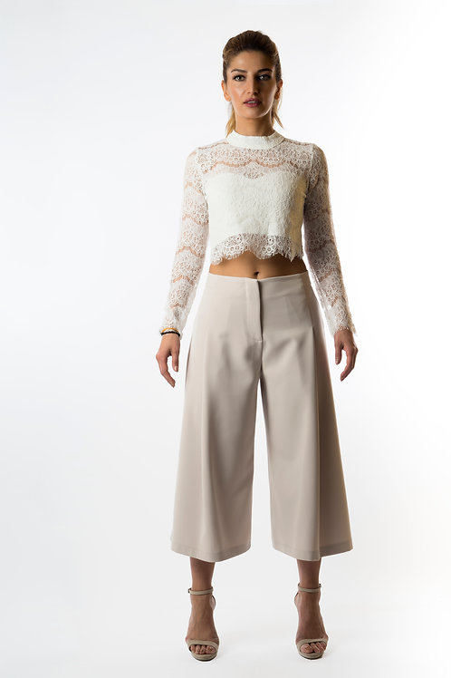 Pantea pleated wide leg trousers