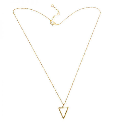 Gold Geo Triangle Necklace