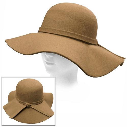 Camel Retro Style Floppy Hat