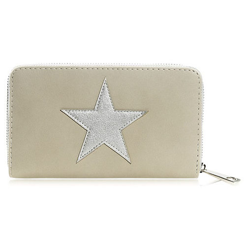 Grey Silver Star Purse