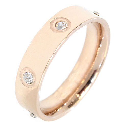 Love Ring with 6 Diamonds in  Rose Gold