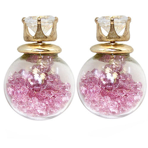 Glass Bauble Stud Earring