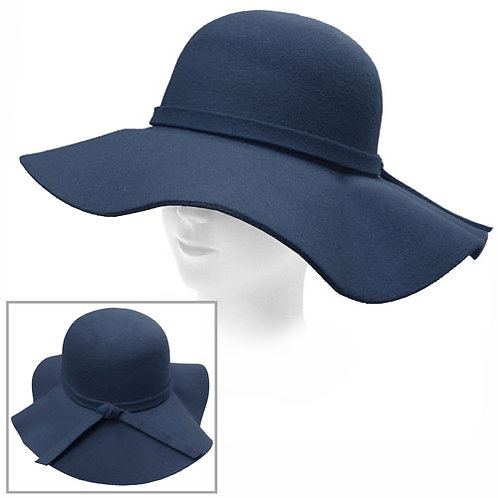 Blue Retro Style Floppy Hat
