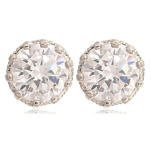 Faux Diamond Stud Earring