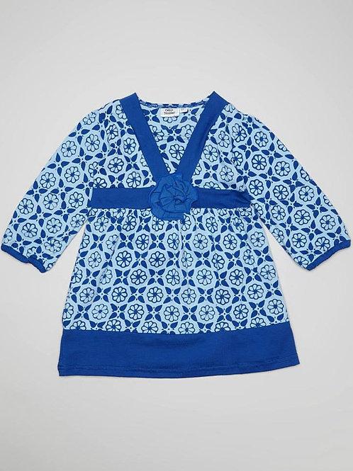 Blue Flower Fall Dress