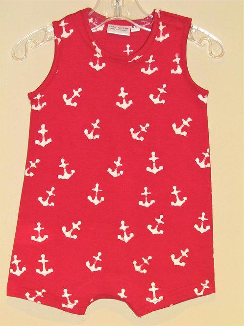 Red Anchor Sleeveless Romper