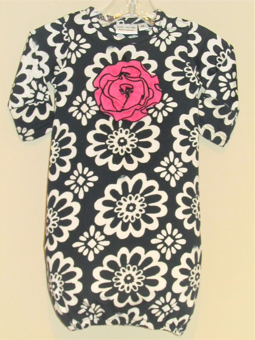 Black and Pink Flower Gown