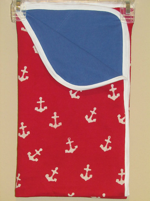Red Anchor Blanket