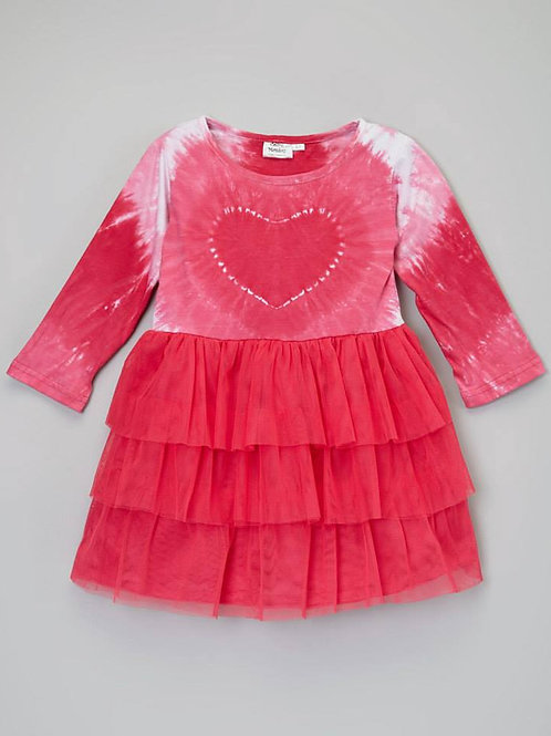 Pink Heart Tie Dye Dress