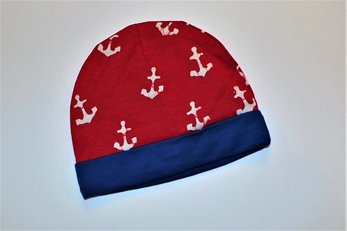 Red Anchor Infant Hat