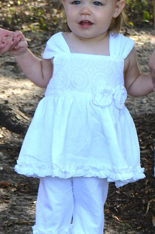 White Linen Short Set