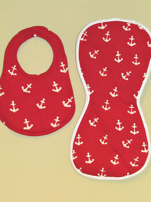 Red Anchor Bib