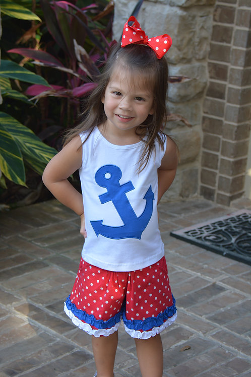Blue Anchor Short Set