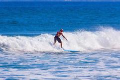 Randy Oakley surfing in Rincon, Puerto Rico