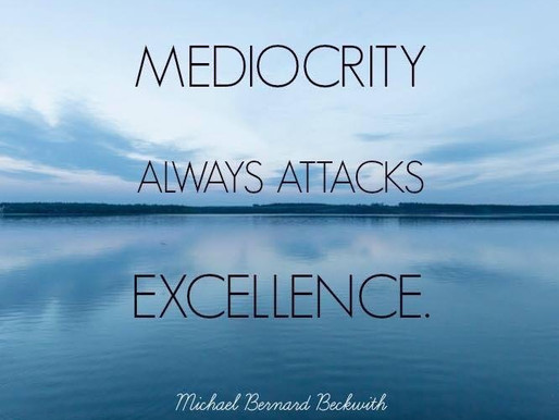 To Achieve Excellence... Avoid the stumbling blocks.
