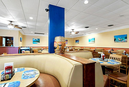 dining room of Capt Jacks Front Beach Road
