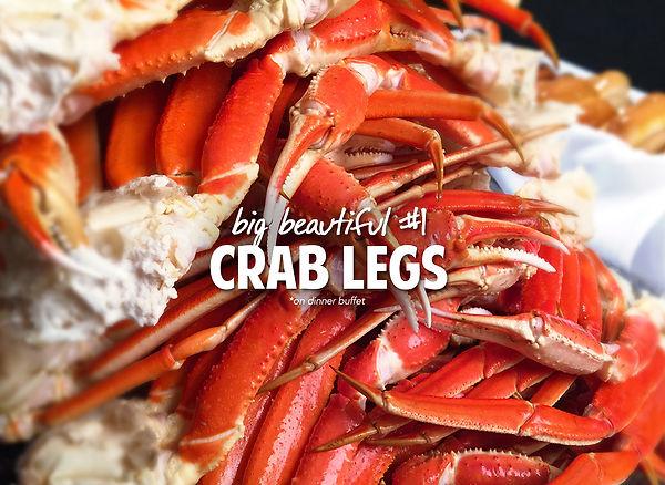 big pile of crab legs at Capt Jacks Family Buffet