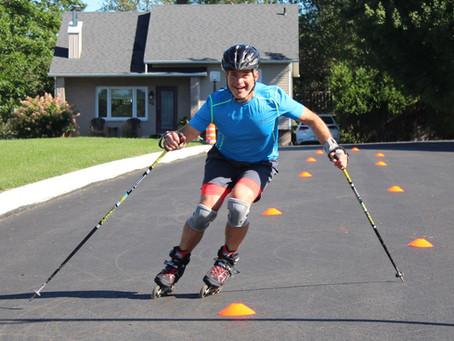Le patin à roues alignées pour développer des habiletés de ski