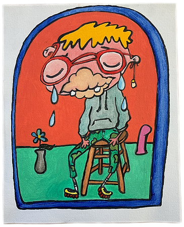 Ena Kantardžić, oil painting, queer, creature, queer art, Boston, Kantardžić