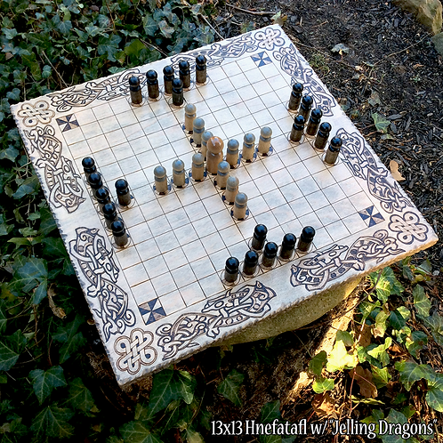 Hnefatafl Game (13x13 grid variant) - a strategy game with deep historic roots