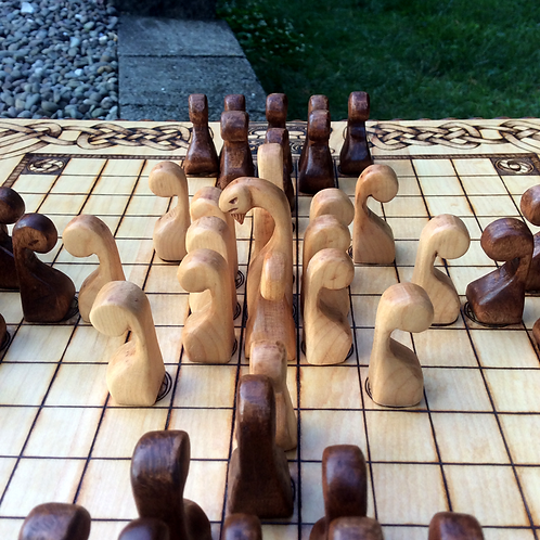 Ships Prow Pawns: Upgrade item for hnefatafl games - a perfect complement!