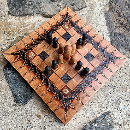 Hnefatafl Game (7x7 grid variant) - a Viking strategy game w/ Celtic connections