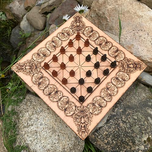 Alquerque - a medieval game of Moorish origin; a predecessor to Draughts