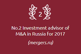 Top investment advisor in Merges and Acquisitions