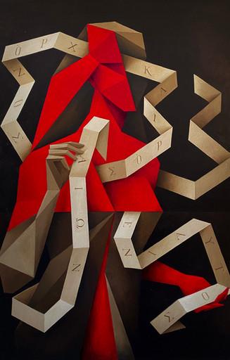 """Senza titolo, serie """"Alius Pulchritūdo"""" - olio su tela 80x100cm - Tarquinia (sold out)"""