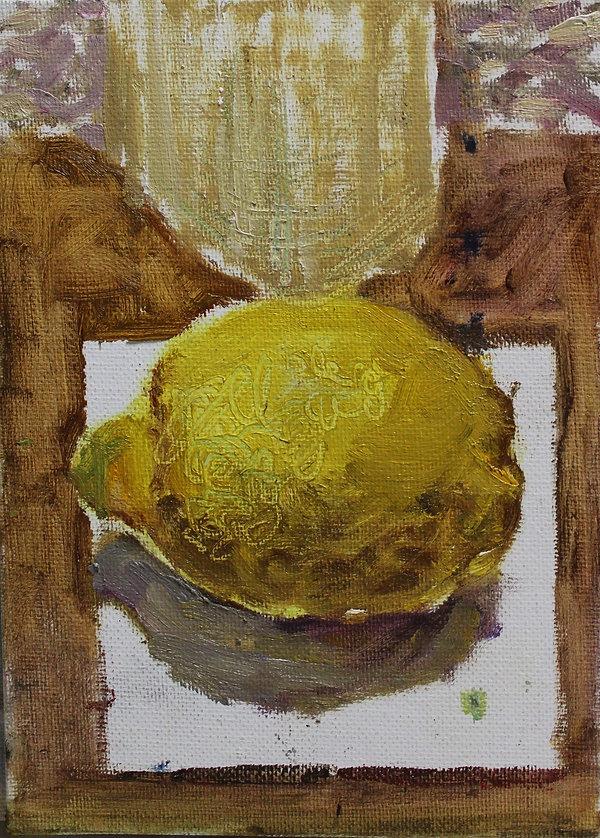 Mario Cervantes, Lemon, 18 x 13cm, oil o