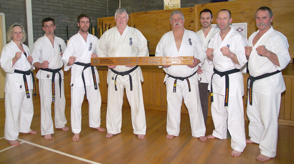 Shihancho with all of the Leopold black belts