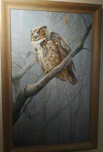Winter Mist - Great Horned Owl