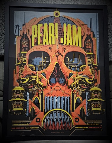 Pearl Jam Concert Poster