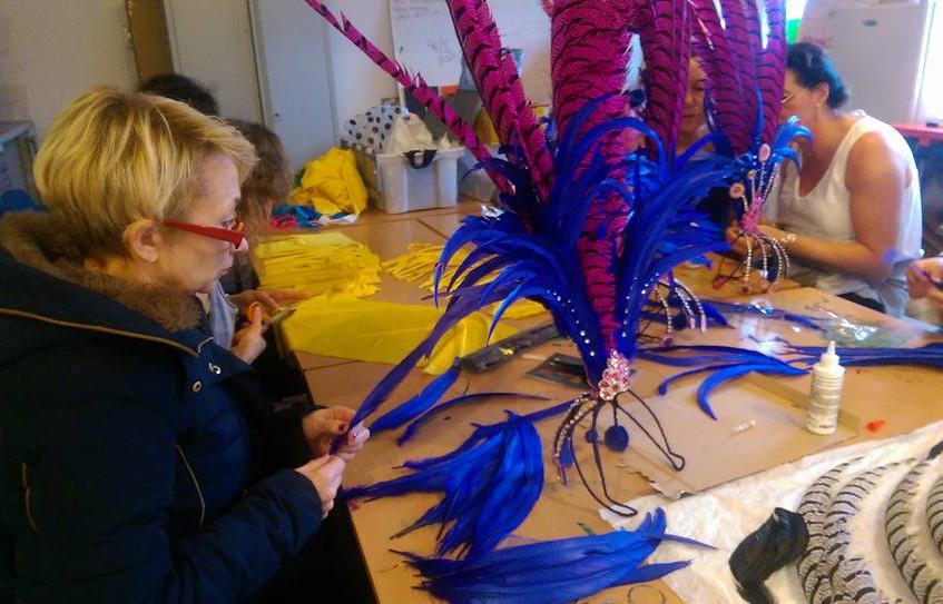 Creating the headdress