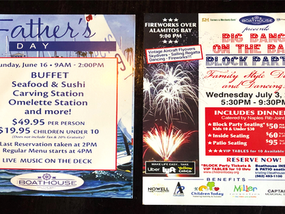 Father's Day & 3rd of July At Boathouse On The Bay