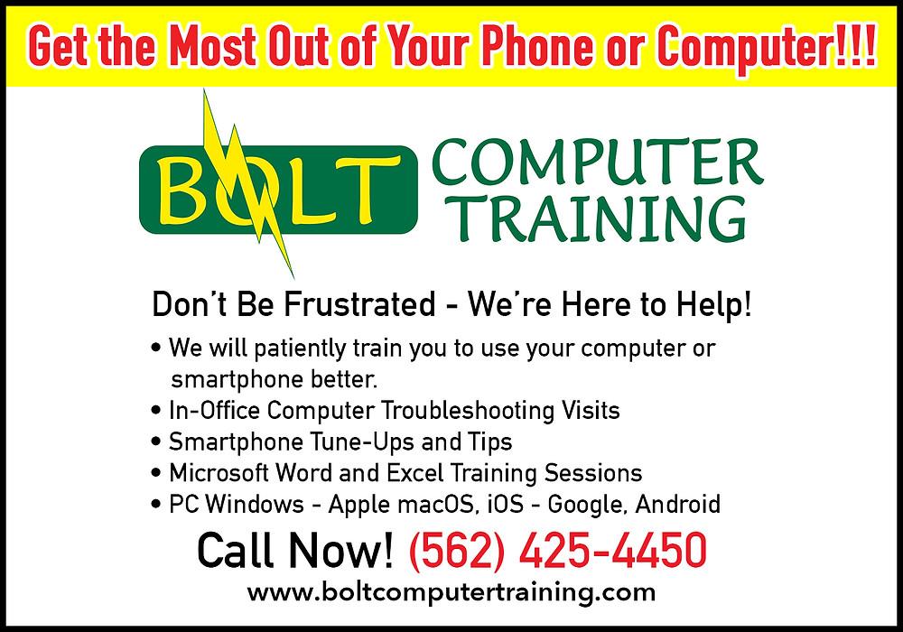Bolt Computer Training