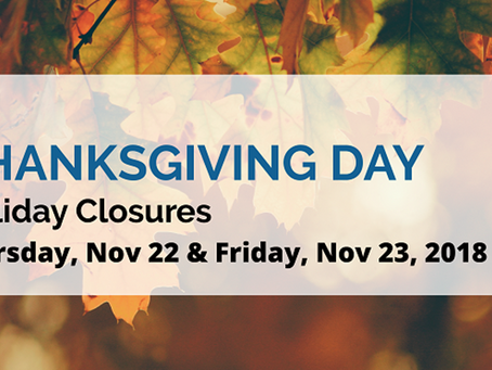 City of Long Beach Thanksgiving Holiday Closures