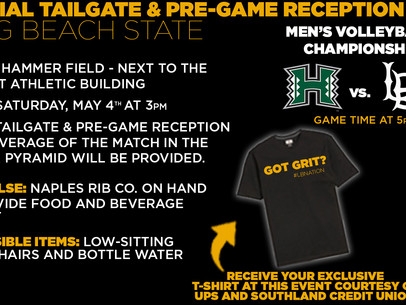 Men's Volleyball National Championship Tailgate at LBSU