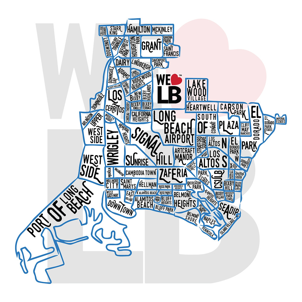 We Love Long Beach Map