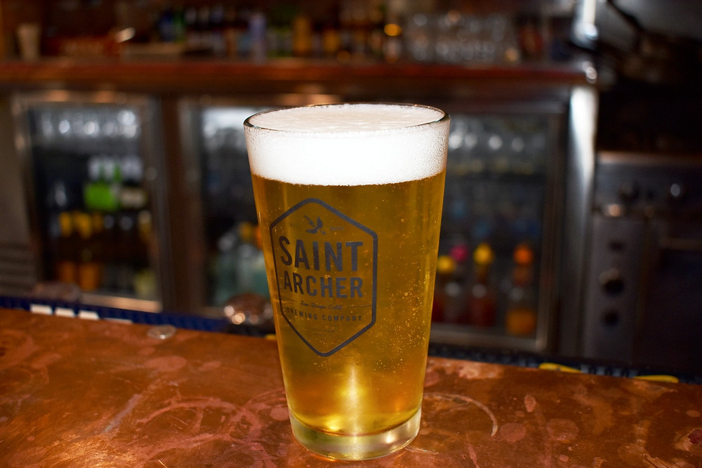 EJ Malloy's Beer of the Month is the Saint Archer Blonde Ale