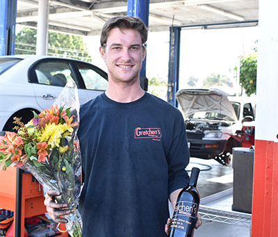 Gretchen's Automotive: Gifting Great Service and...Wine?