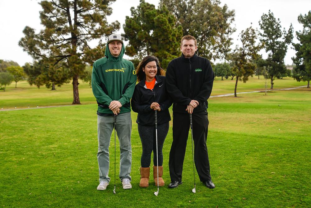 Paul Slater, Ali Morallos, John Grossi at Big Rec Golf Course