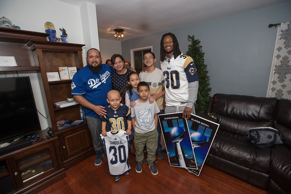 Sandoval Family and Todd Gurley