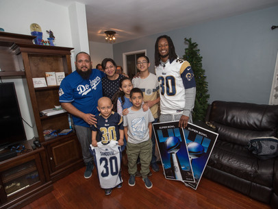 Todd Gurley and the Los Angeles Rams Surprise One of Their Youngest Superfans with Super Bowl Ticket