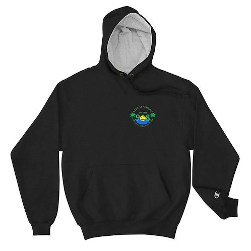 Life is Great in the 908 Champion Hoodie