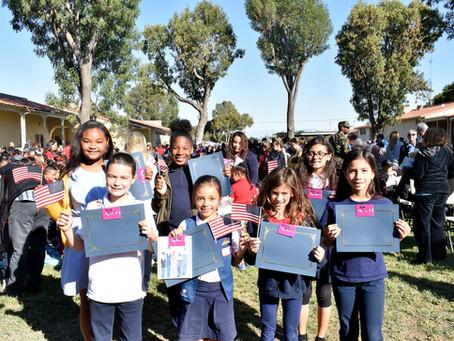 Mark Twain Elementary Celebrates Veterans Day the Right Way