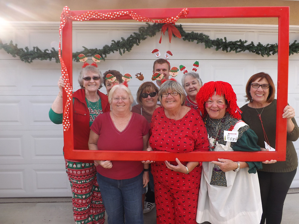 Grandma Dianne and her Helper Elves!