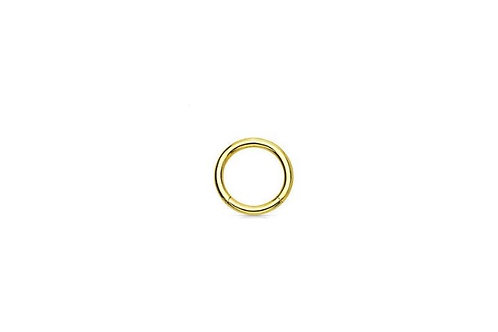 Gold Anodised titanium hinged Segment Ring - 1.2 mm