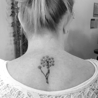 Dotwork Flower Tattoo