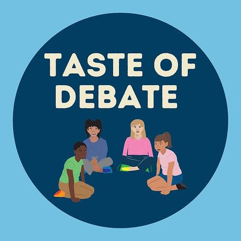 Taste of Debate